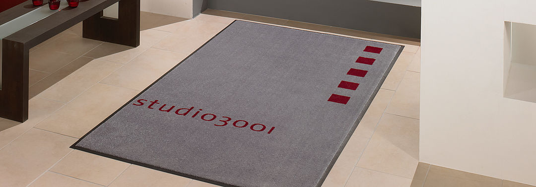 Logo mats for residential properties