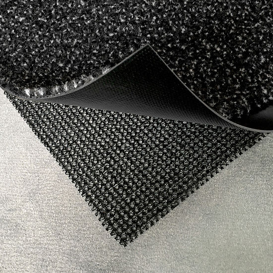 Clean-off system for textile underlay FLOCK