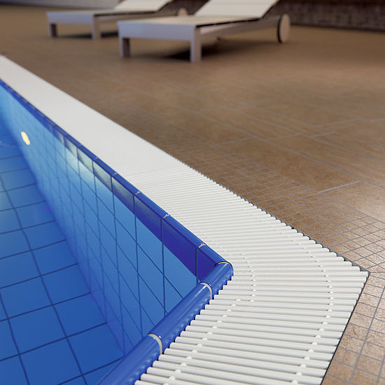 emco swimming pool grates 723 Design mitred corner Typ 135