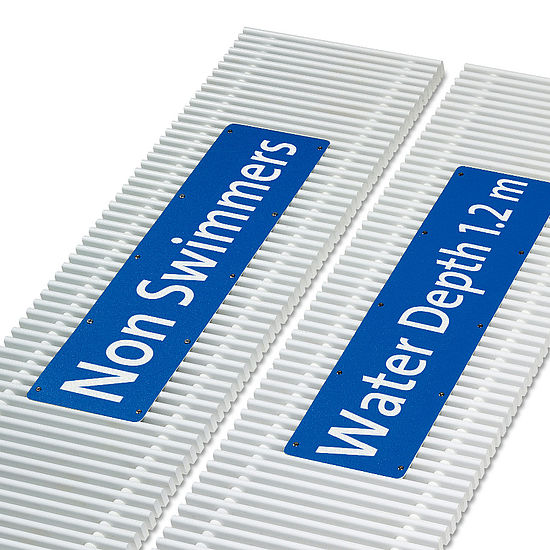 emco swimming pool grates Labels Typ M